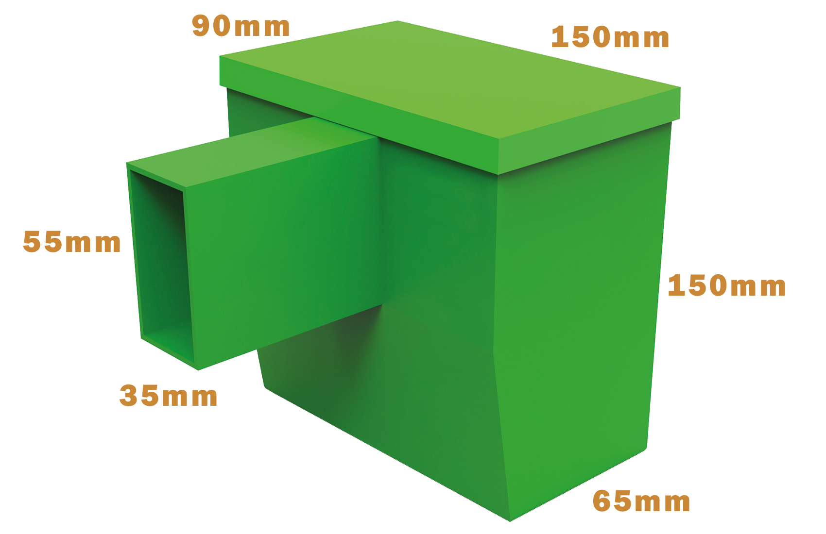 Cavity Wall Nesting Box - Dimensions